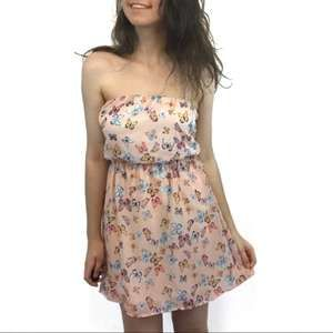 Charlotte Russe Pink Butterfly Dress